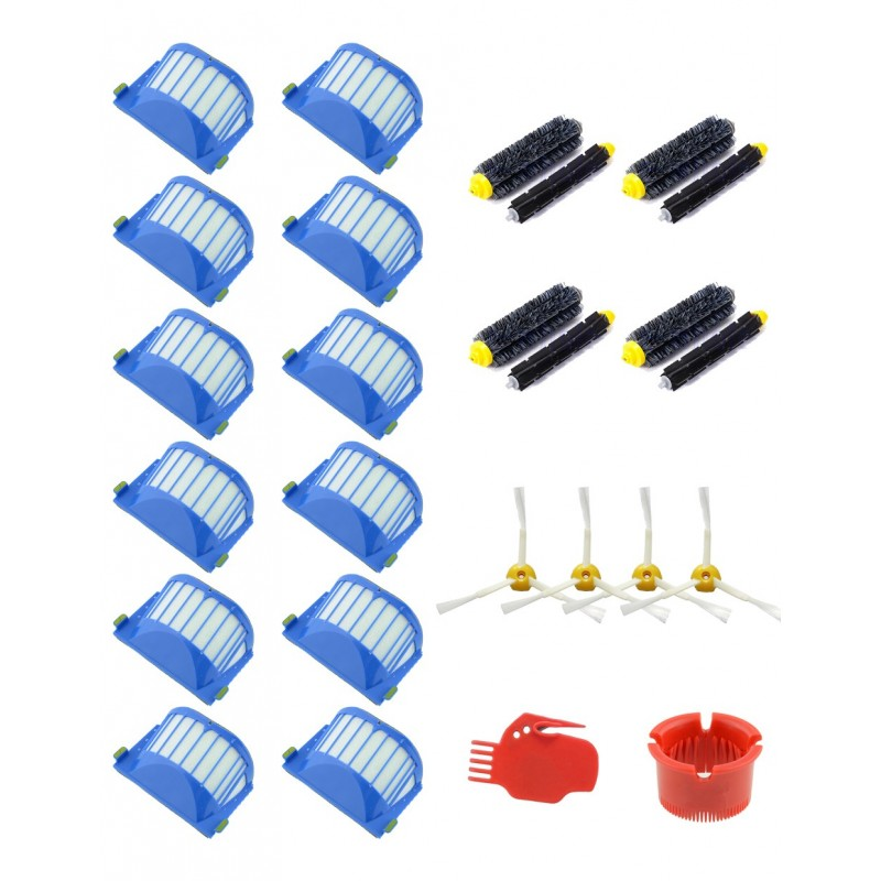 Pack 11 - Recambios roomba 650, 630, 620, 610,  651, 655, 660, 661 - Pack ahorro