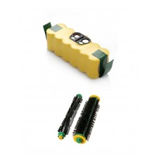 Pack de batería Roomba de 3000 mAh y cepillo central para Roomba 500
