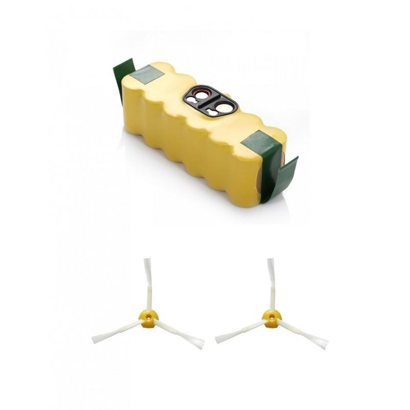 Pack de batería Roomba de 3000 mAh y cepillos de 3 aspas para Roomba