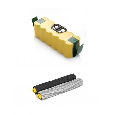 Pack de batería Roomba de 3000 mAh y extractores para Roomba 800 y 900