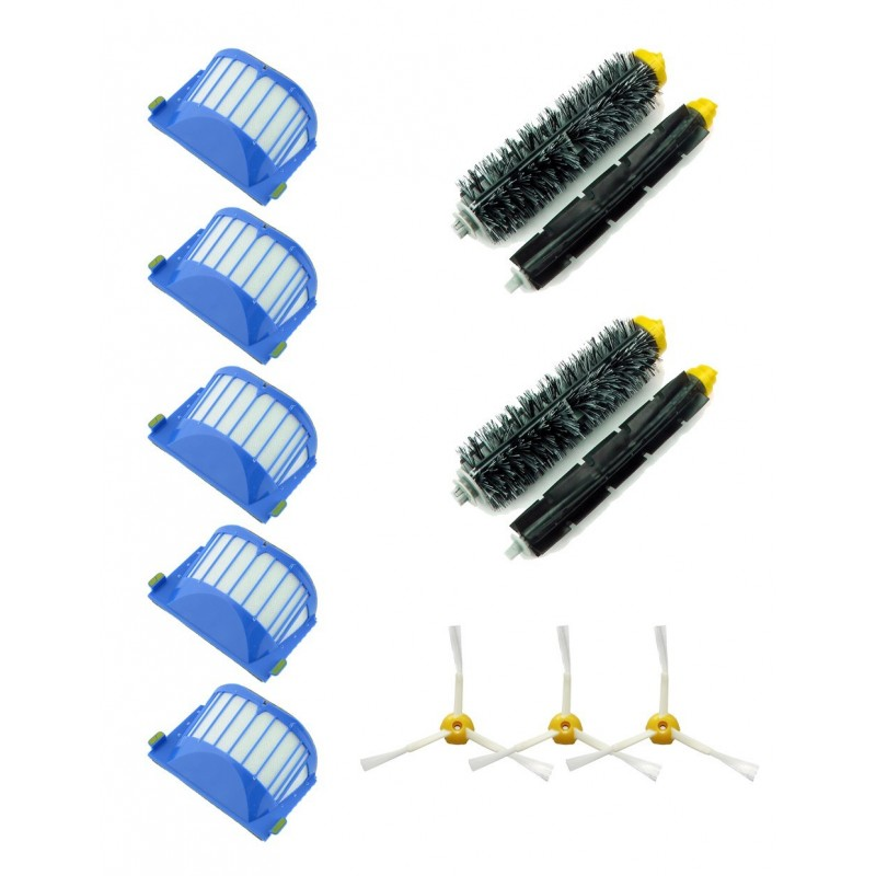 Pack 12 - Recambios roomba 650, 630, 620, 610,  651, 655, 660, 661 - SuperPack