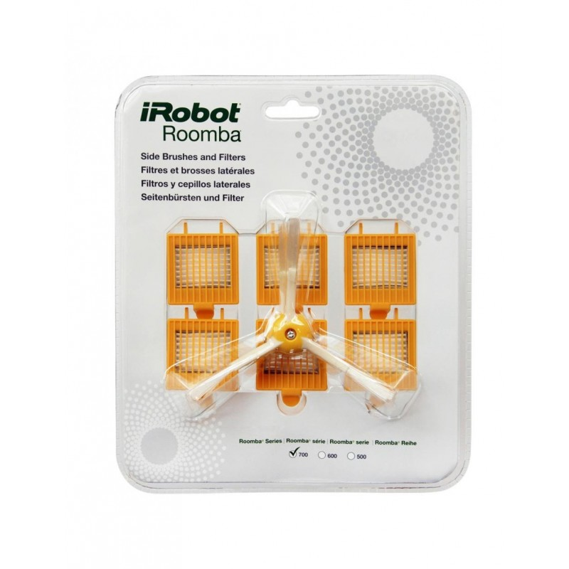 Original: Pack 3 cepillos laterales y filtros Roomba serie 700