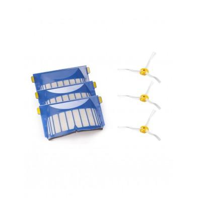 Original: Pack de 3 filtros Aerovac y 3 cepillos laterales