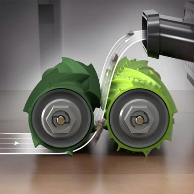Kit cepillos de goma centrales para Roomba Serie i