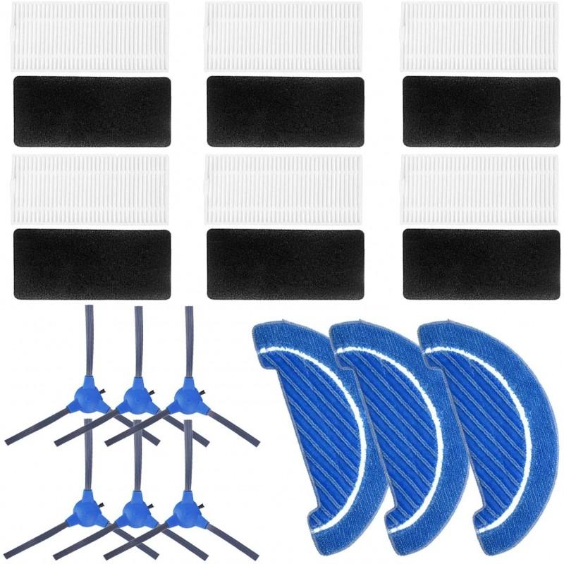 Pack PRO para Conga 1090 - 6 cepillos, 6 filtros y 3 mopas