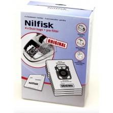 4 Bolsas originales para aspiradoras Nilfisk. Cód. 107407940.