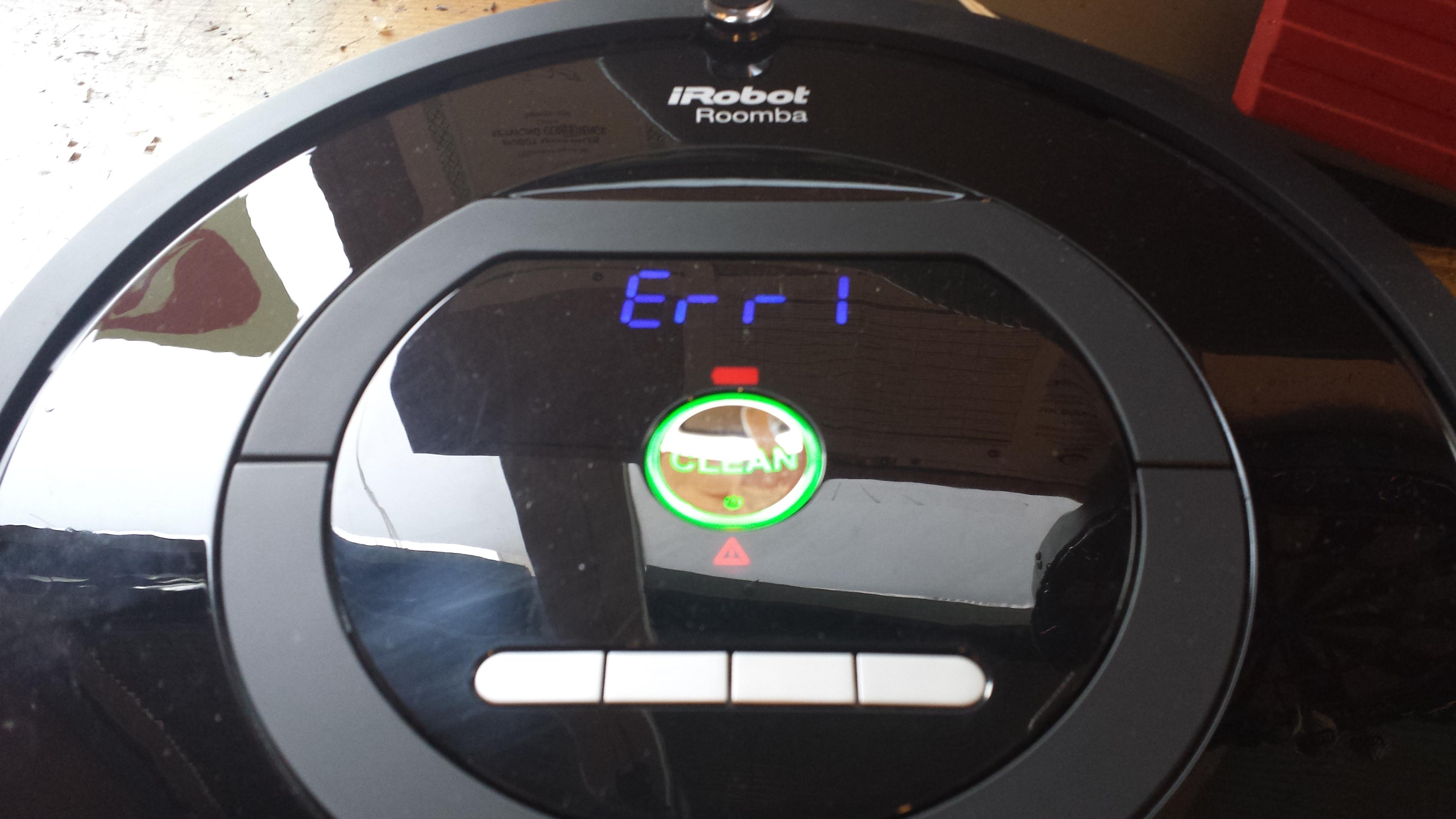 errores mas comunes de Roomba - error 5 de roomba y otros errores de carga de la bateria
