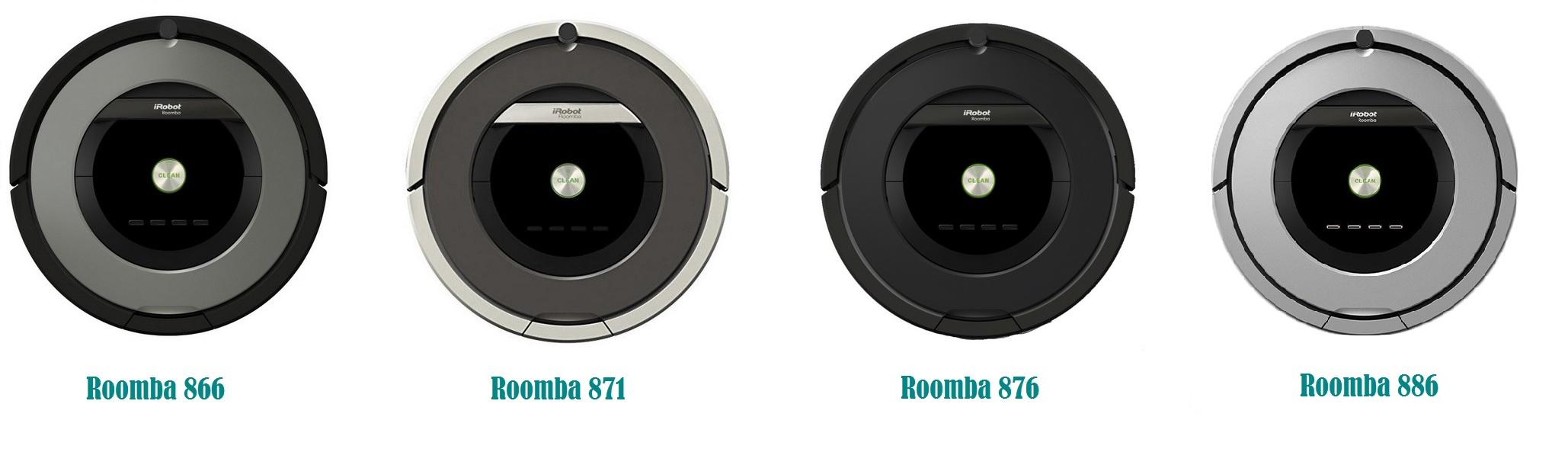 Comparativa entre Roomba 866, 871, 876 y 886